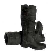 Ladies Rhinegold 'Elite' Colorado Leather Country Boots BLACK